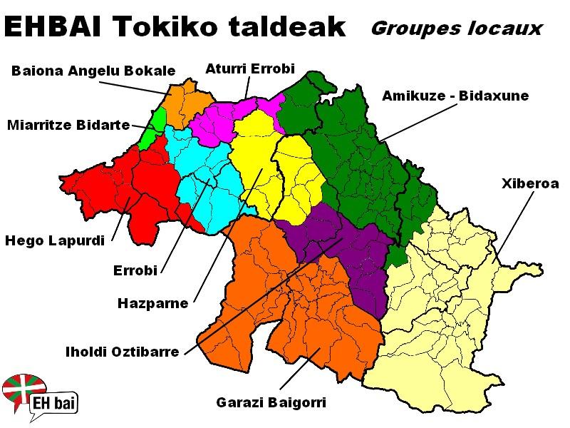 Carte des groupes locaux EHBAI